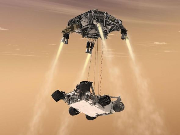 mars rover curiosity descent