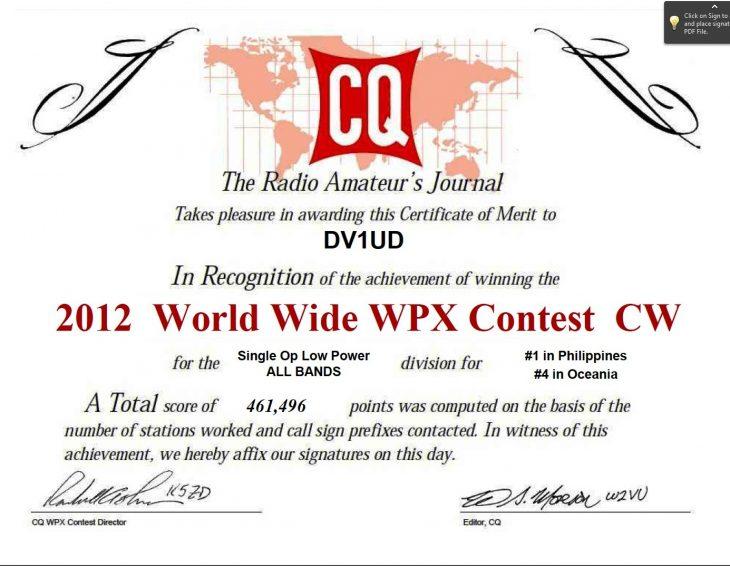 DV1UD WPX CW 2012