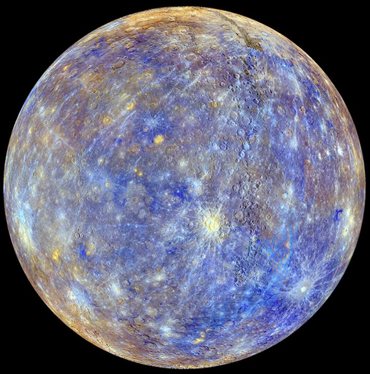 planet mercury by messenger