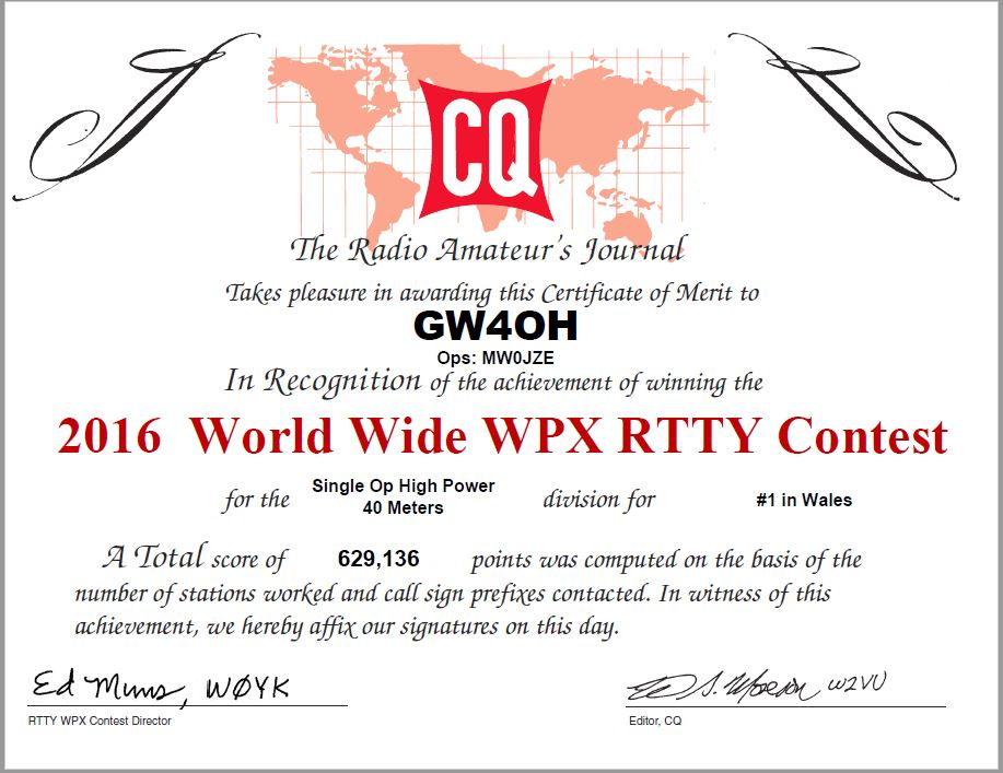 GW4OH WPX RTTY 2016 small